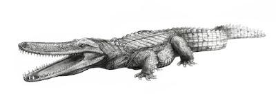 replica de Laganosuchus