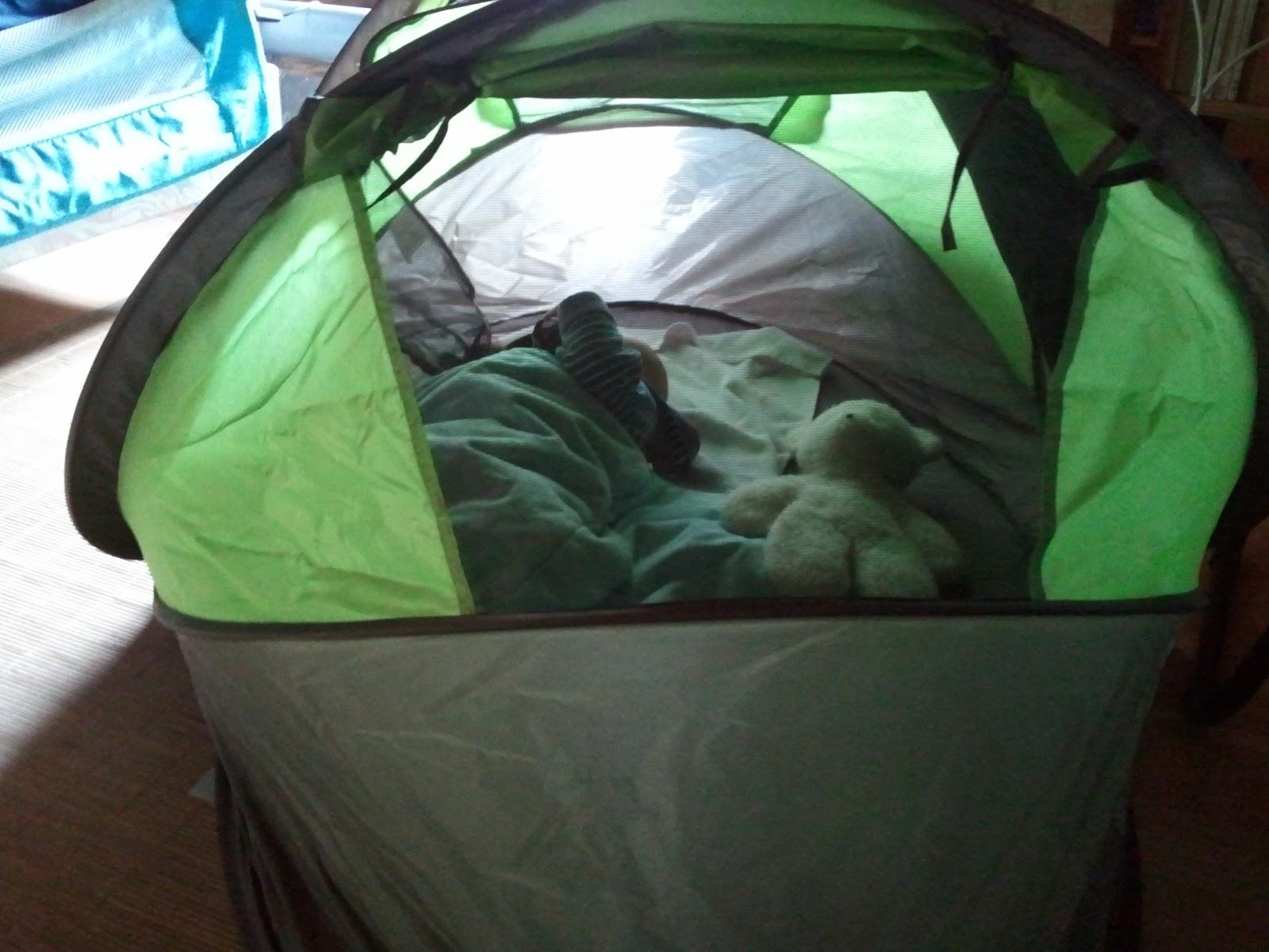 Minidoux dans la tente deryan
