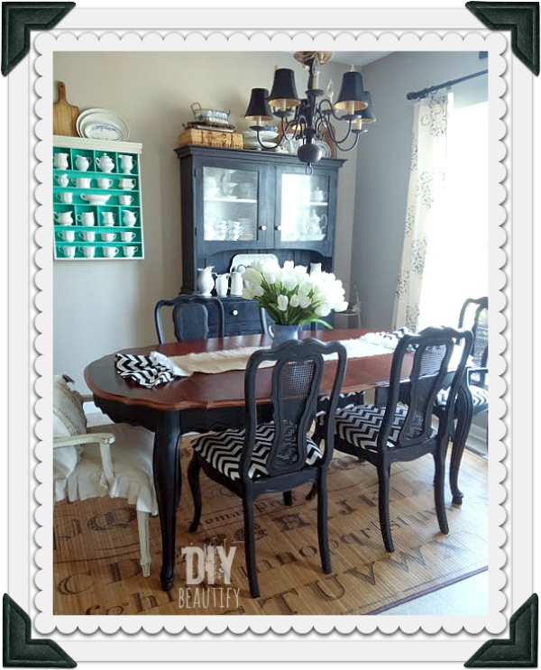 How to refinish a dining table top ~ DIY beautify blog