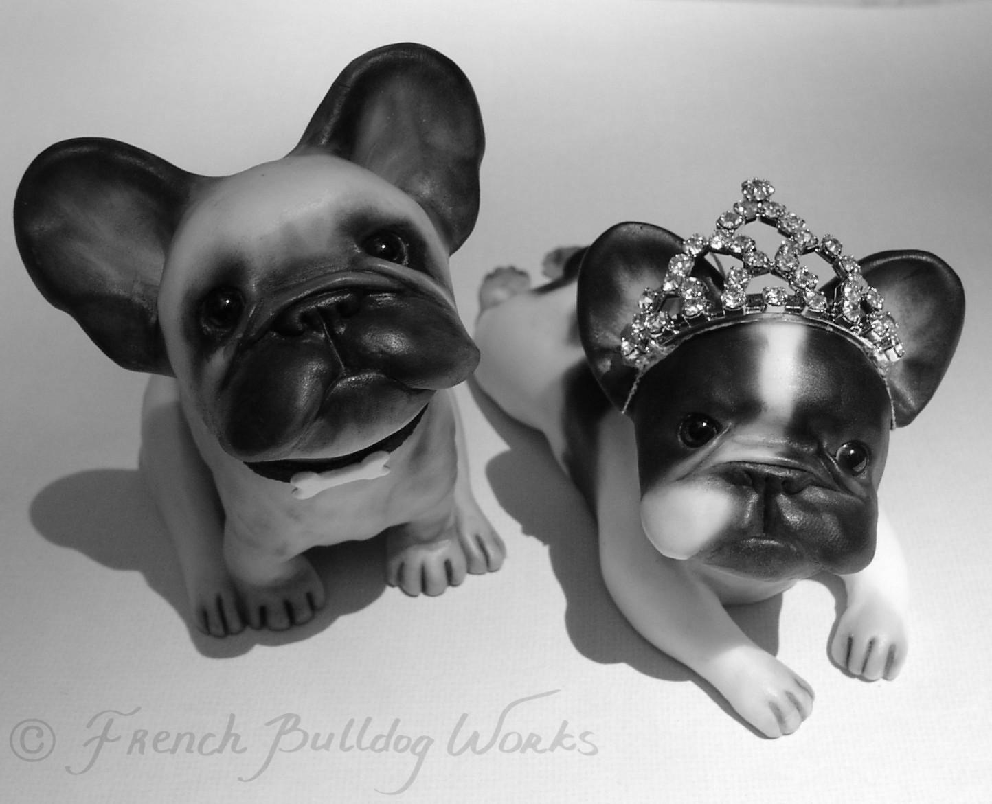 French Bulldog Wedding Cake Toppers