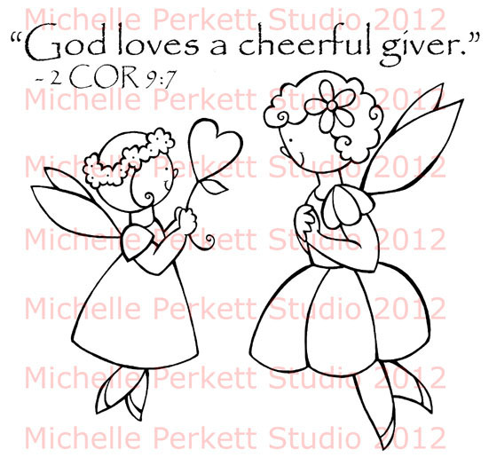 Perfect God Loves A Cheerful Giver Coloring Page Elaboration ENCHANTED INSPIRATIONS NEW CHEERFUL GIVER STAMP NOW AVAILABLE
