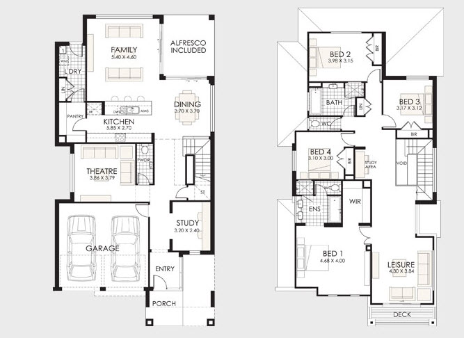 Dise o y planos de casas de dos pisos con ideas para for Creador de planos sencillos para viviendas y locales