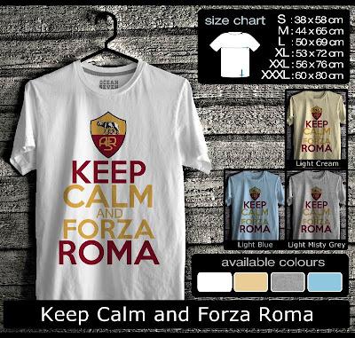 kaos distro keep calm and forza roma
