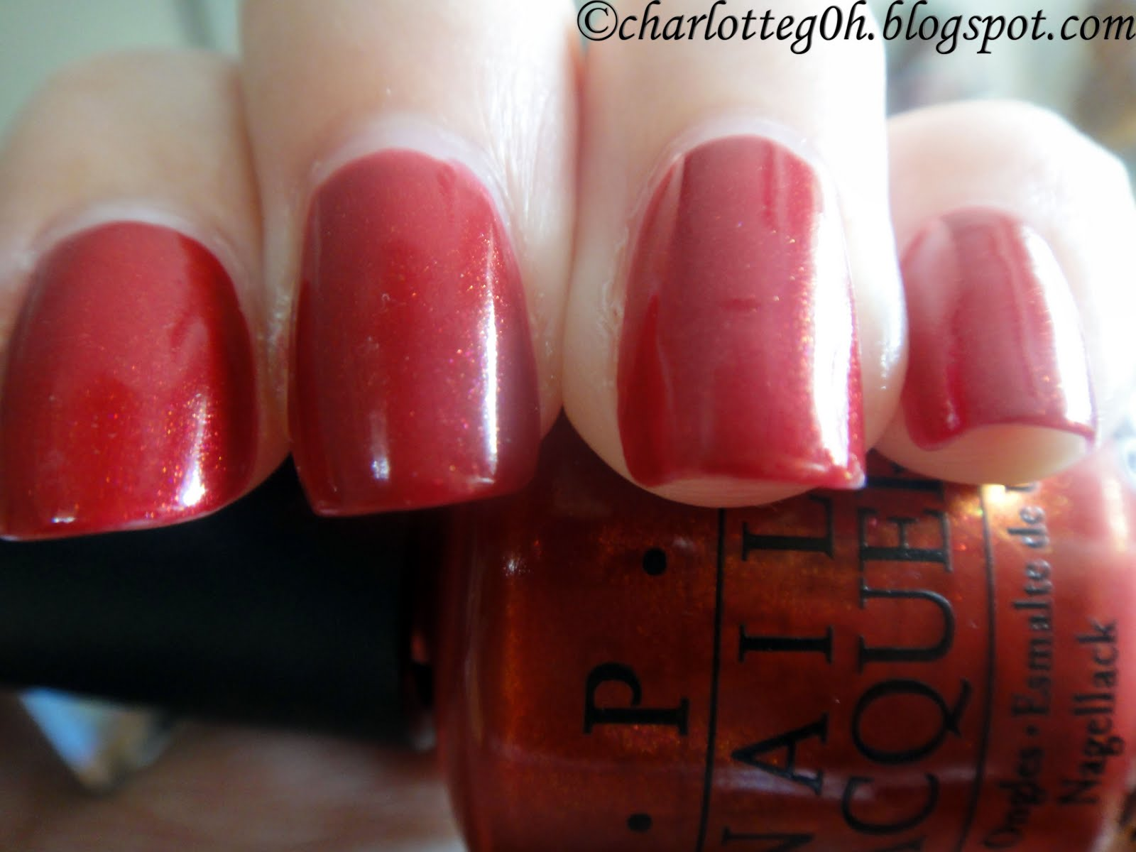 Opi Color To Diner For Pretty shimmers
