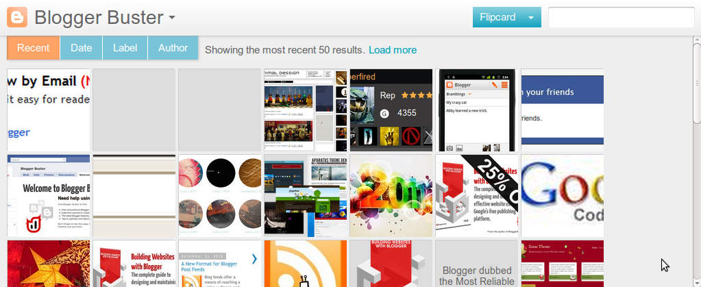 Blogger buster 5 new dynamic blogger templates for us to preview flipcard view maxwellsz