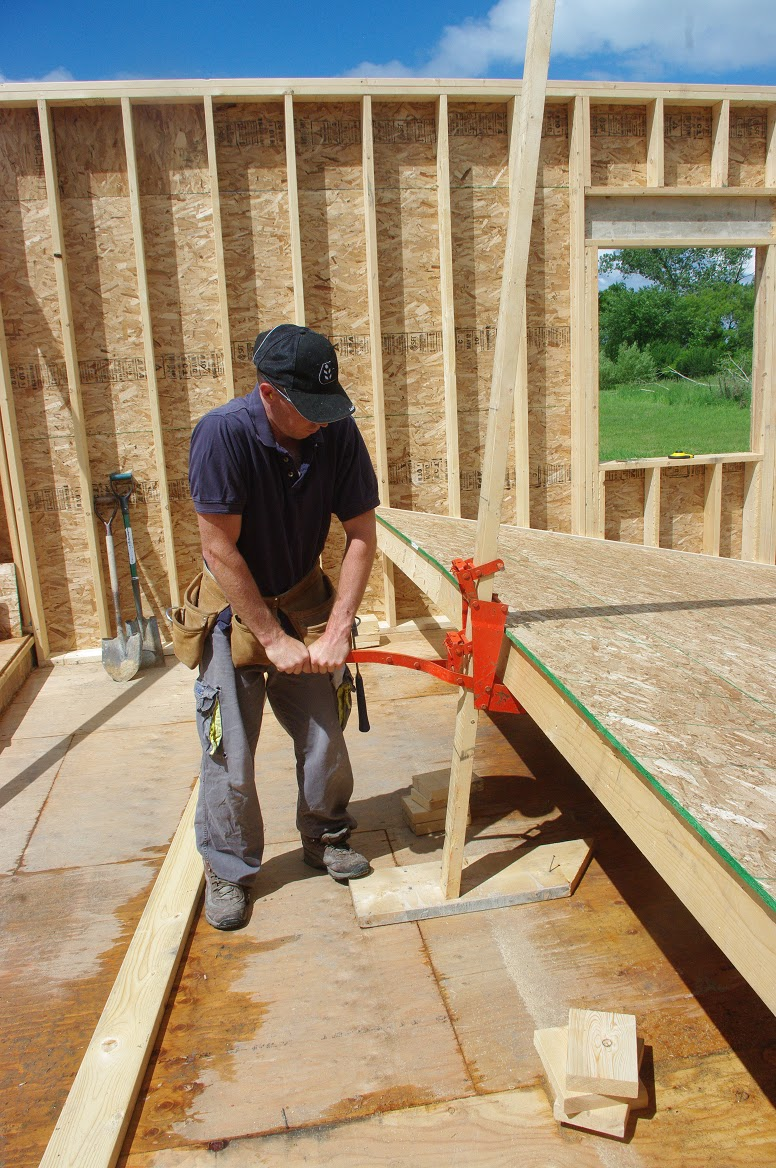 Wall Jacks For Framing thousand square feet: exterior views of house - main level