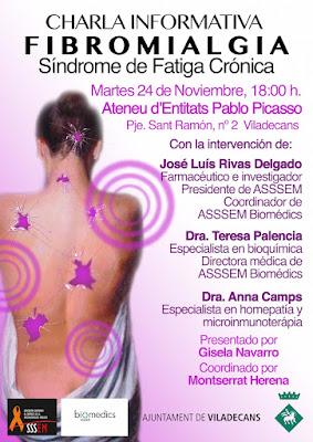 charla informativa sobre Fibromialgia, Síndrome de Fatiga Crónica y Síndrome Químico Múltiple