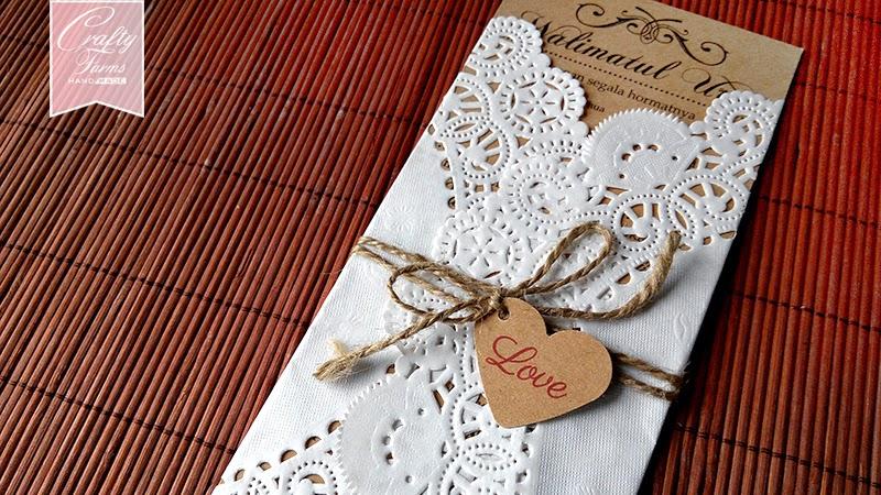 Doily Inspired Kad Kahwin Wedding Card