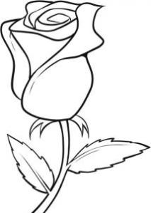 Easy flower to draw easy roses flower to draw pictures ccuart Image collections