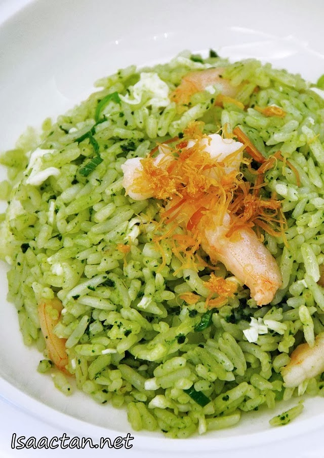 Fried Rice with Spinach Juice