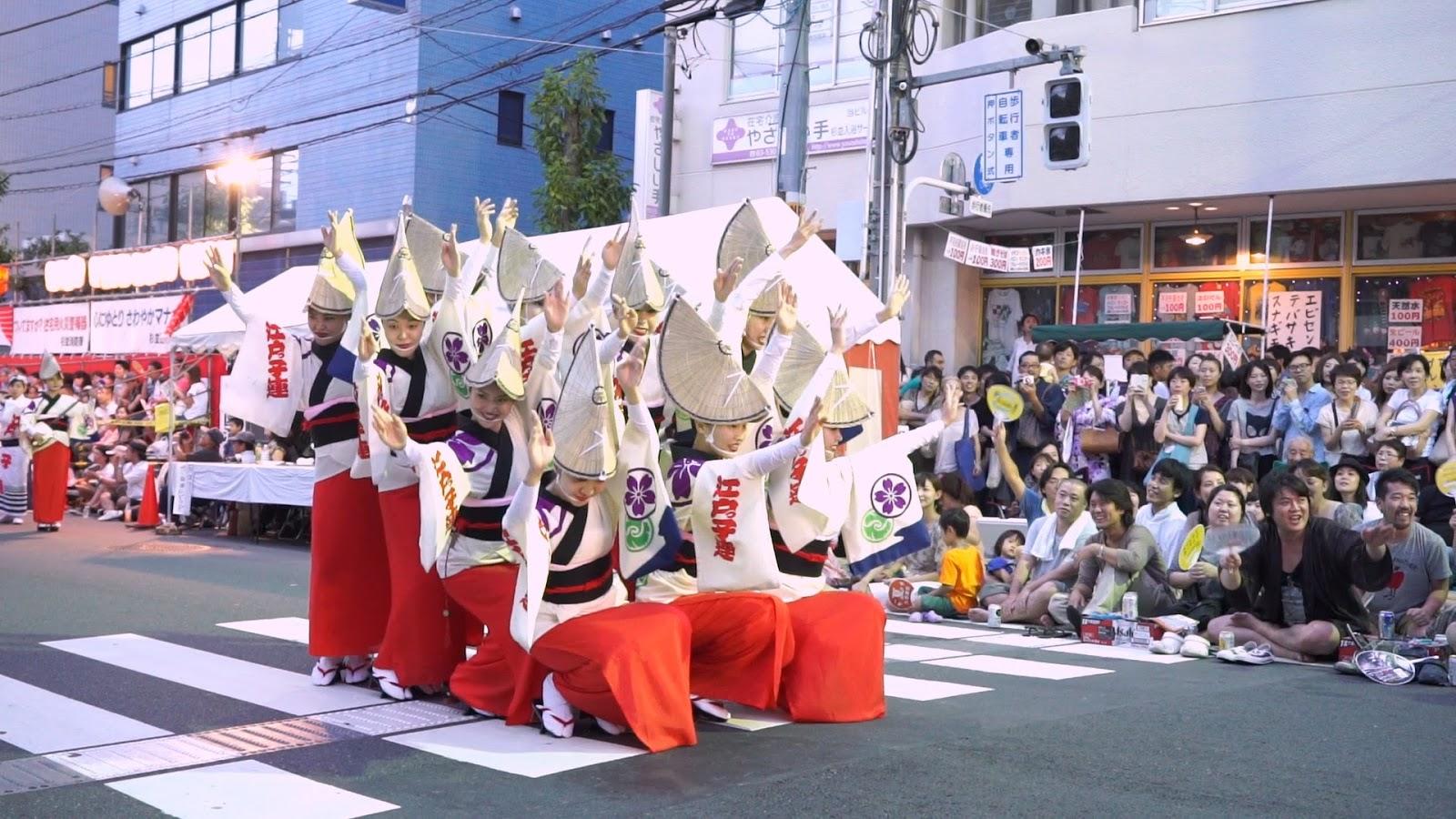高円寺阿波おどり、江戸っ子連の動画を見る