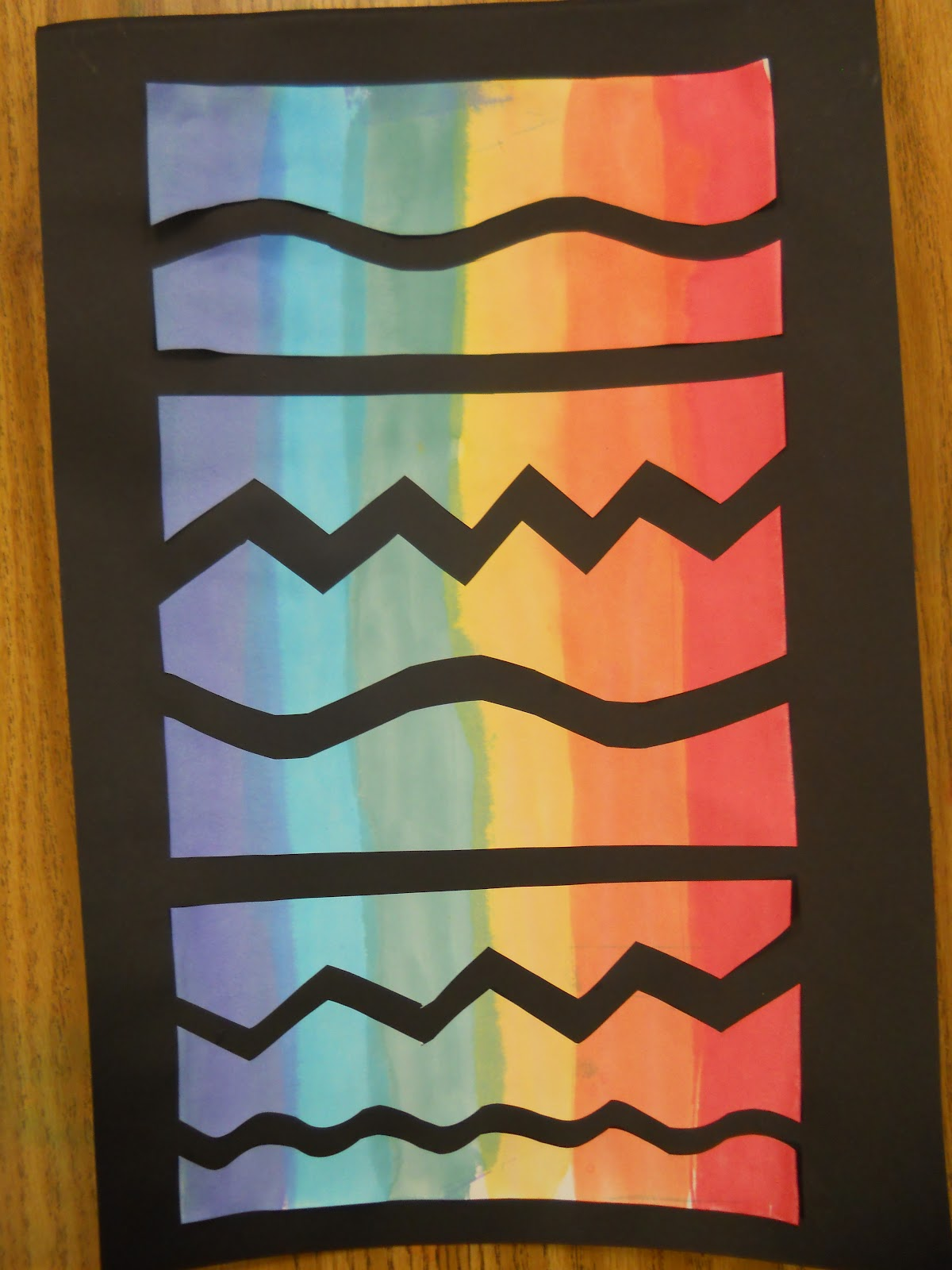 Line Project Art : Mrs t s first grade class rainbow art