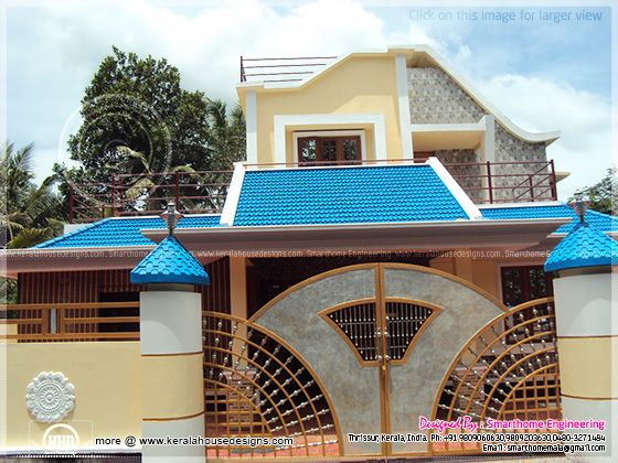 Completed home in Kerala