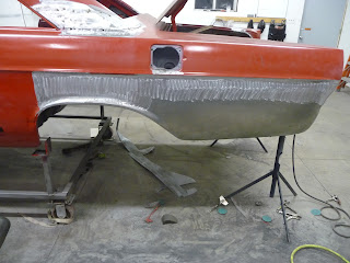 1965 Ford Galaxie quarter repair