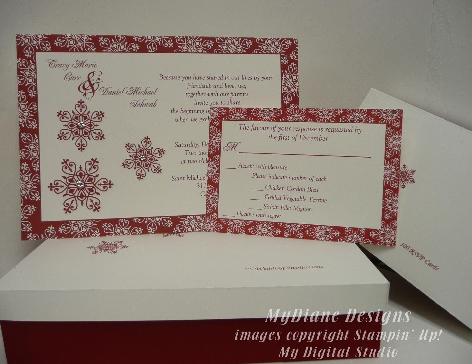 mydiane designs december wedding invitations With wedding invitations for december