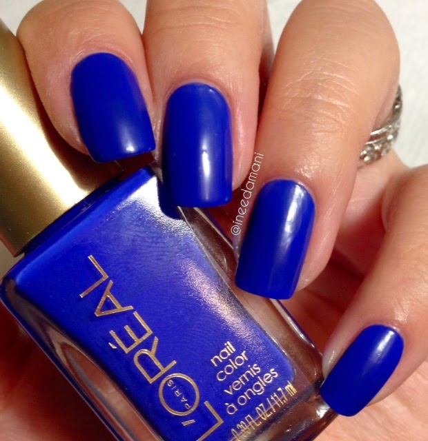 loreal neon fluo azur nail swatch review
