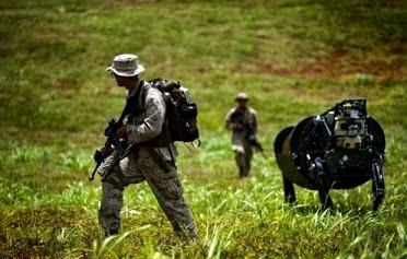 cavalos roboticos militar