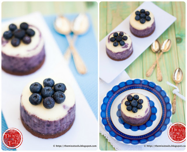 cheesecake-mini mirtilli e limone - little blueberries lemon cheesecakes