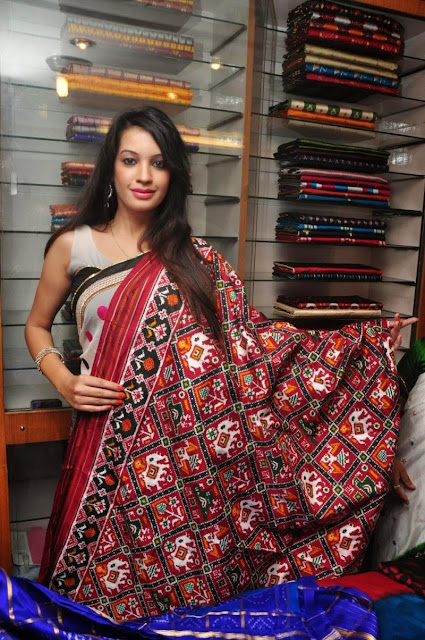 Deeksha Panth in lovely Designer saree Collection at a Store Launch