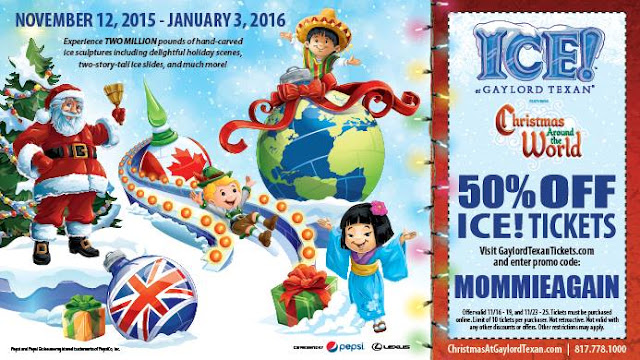 Coupon for Ice ! at the Gaylord Texan in Grapevine Texas #couponcode #Gaylord