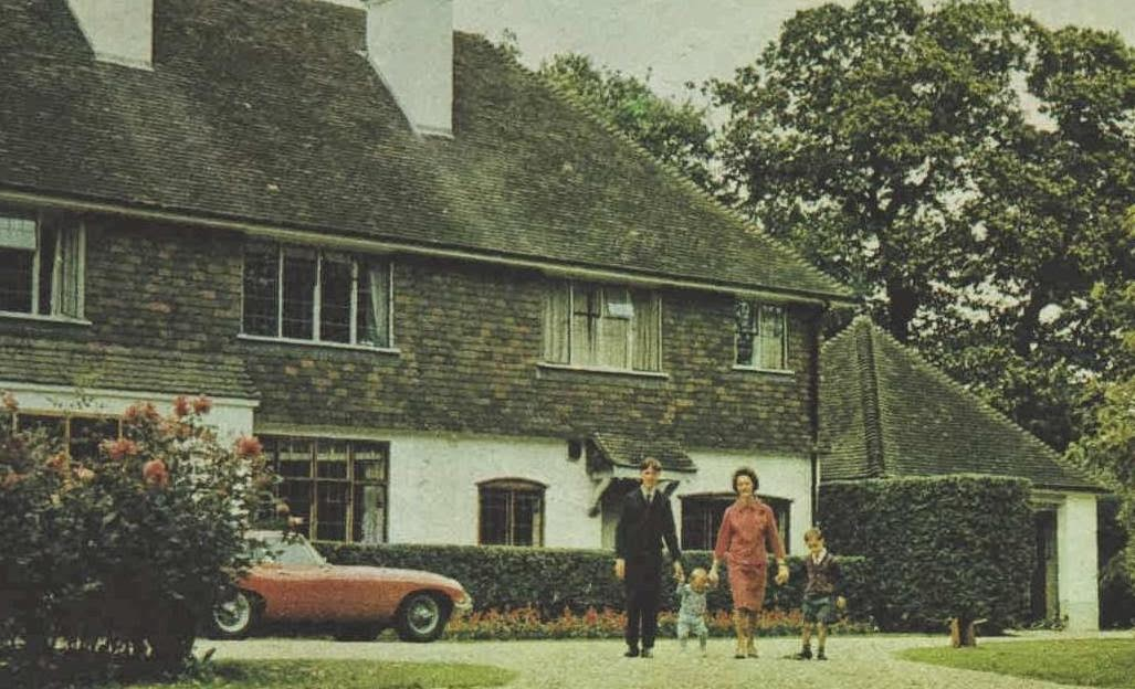 Betty Brabham with sons Geoff 14, David 1, and Gary 5 at home in Surrey