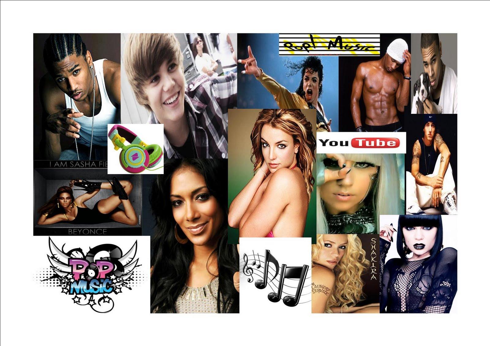 Pop music mood board