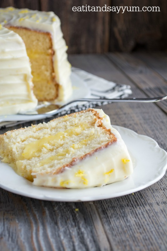 Lemon Chiffon Cake from Eat it and Say Yum