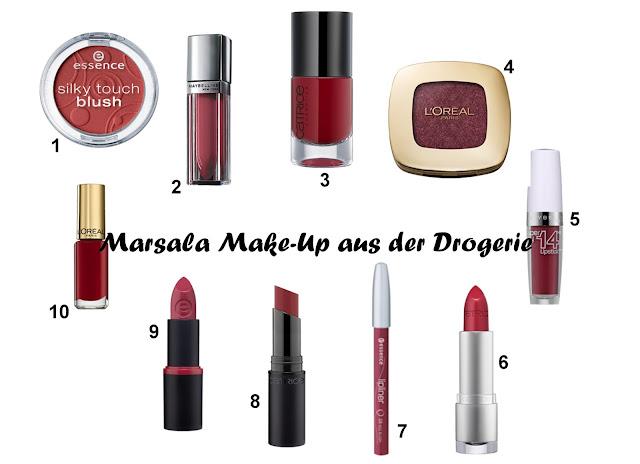 Marsala Make-Up aus der Drogerie - beliebtester Blogpost 2015