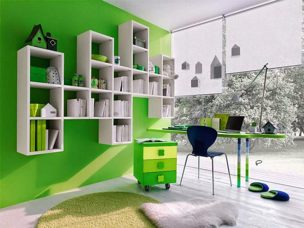 Warna Cat Interior Rumah Hijau Putih Bikin Luas