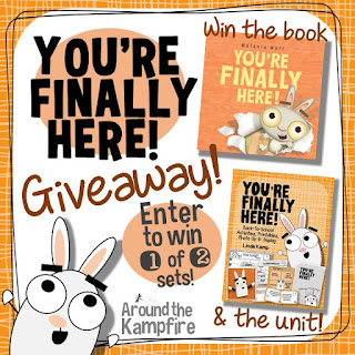 You're Finally Here! The perfect first day of school book!  Giveaway ends Aug. 2