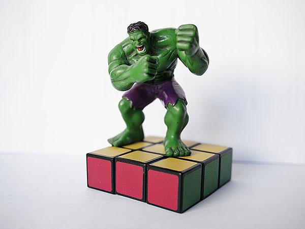 Floppy Cube rubik 3x3x2 Hulk
