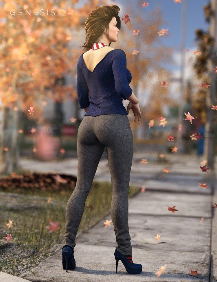 DAZ STUDIO - Autumn Afternoon Outfit for Genesis 2 Female