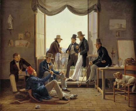 Art Talk - foredrag om kunst. Constantin Hansen: Et selskab af danske kunstnere i Rom, 1837