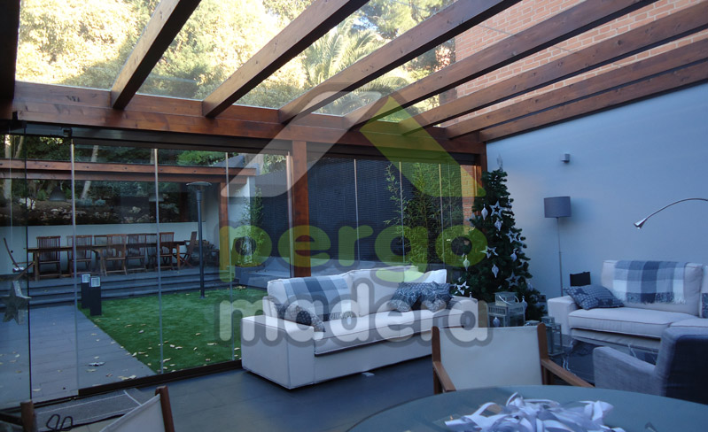 Pergomadera estructuras de madera porches de madera - Porches de madera y cristal ...
