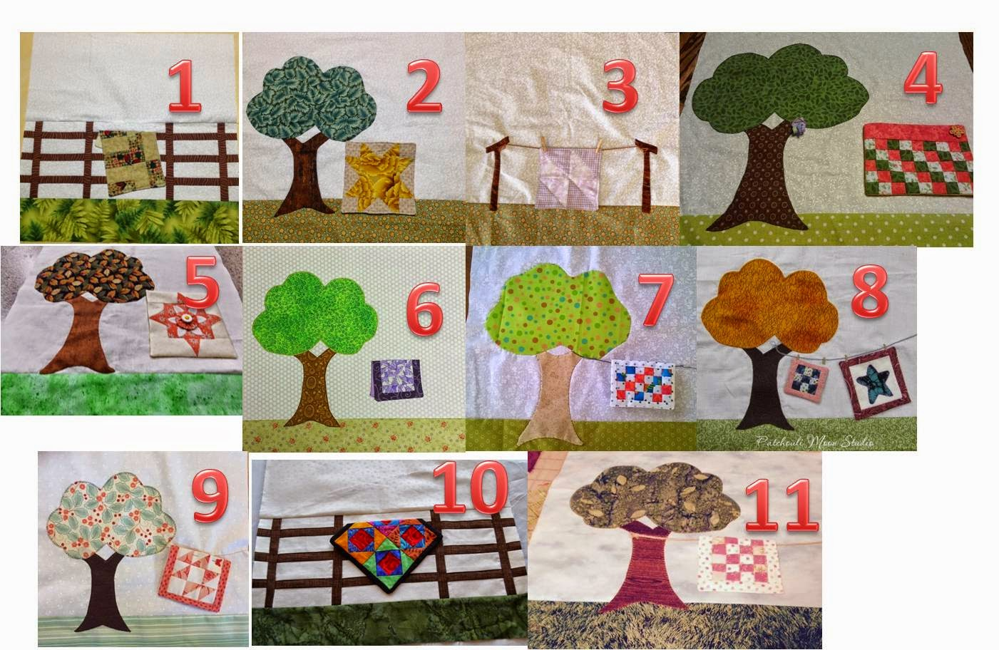 "March - 21 ""Quilts in the Garden"" blocks."