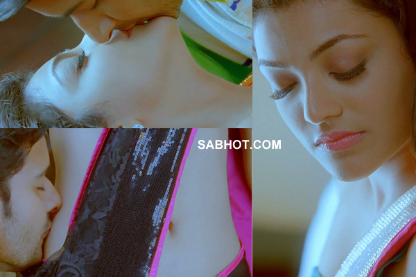 Kajal Agarwal With Mahesh Hot Lip Kiss Businessman Movie