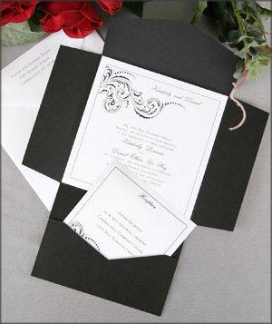 elegant black and white wedding invitations wedding dresses