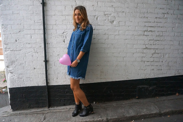 chloeschlothes - robe en jean bleue