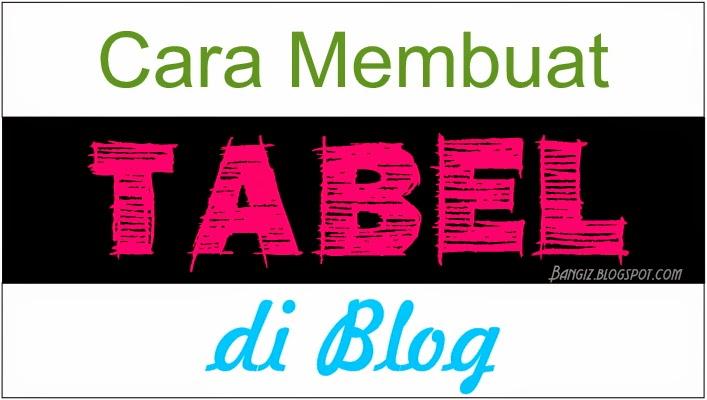 Cara Membuat Tabel di Blog | BANGIZ