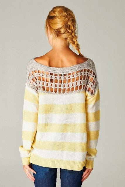 Gracie Crochet Pullover Sweater