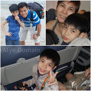 Clarence with his Papa Charlie (top-left) and Mama Mahlen (top-right)