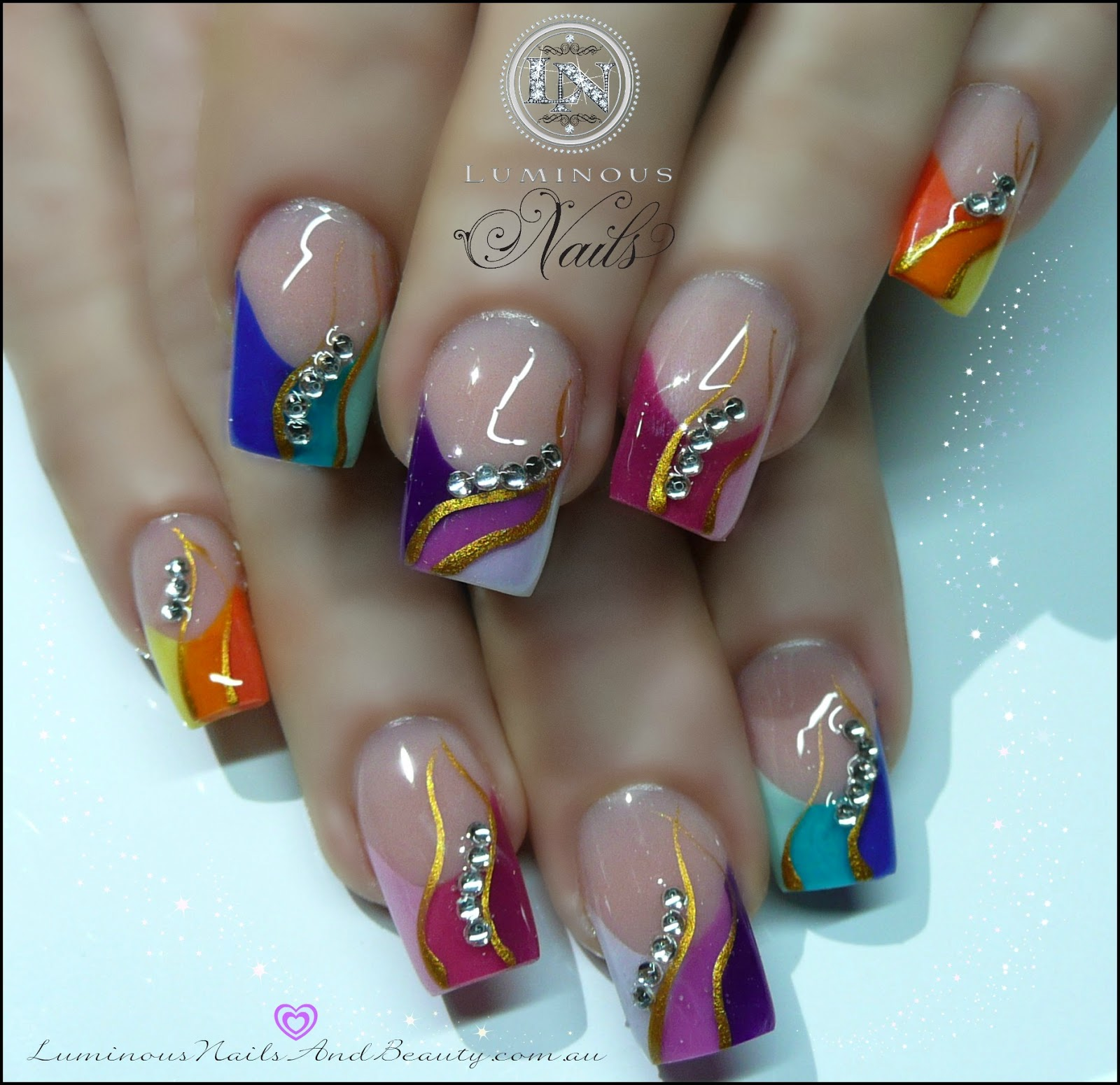 For Summer Acrylic Nails