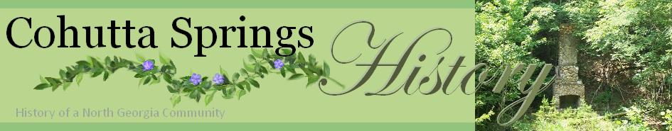 Cohutta Springs History Blog