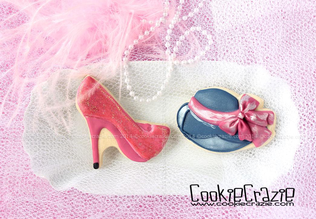 http://www.cookiecrazie.com/2015/02/glamor-hat-shoe-cookies-tutorial.html