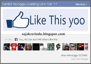 Cara Membuat Widget Like Facebook Dengan Pop Up JQuery