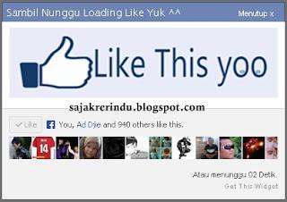 Cara Membuat Widget Like Facebook Dengan Pop Up JQuery