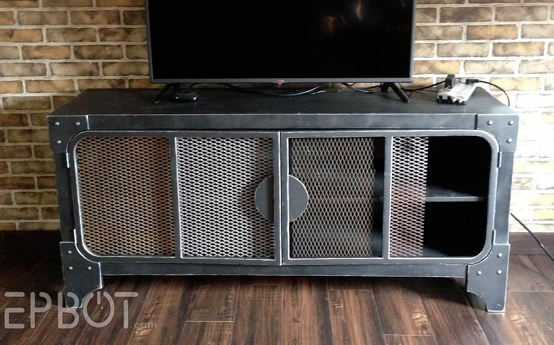 epbot finished steampunk tv cabinet u0026 shelf reveal