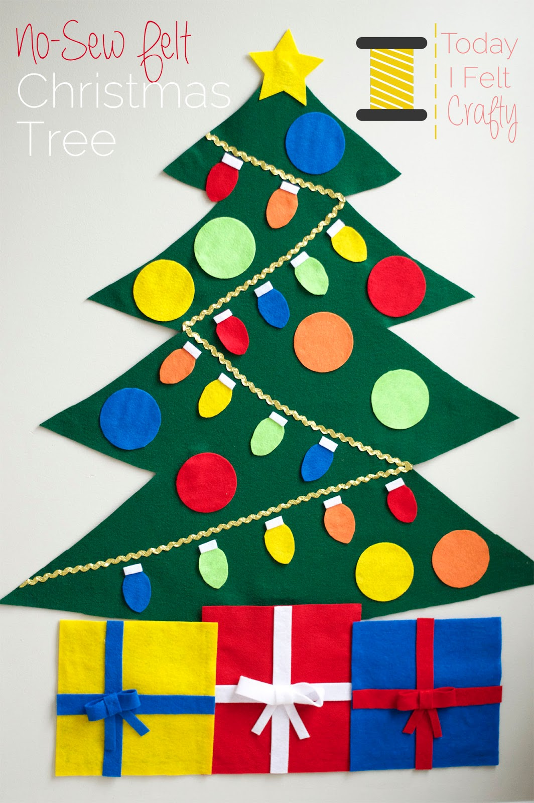 No-Sew Felt Christmas Tree Tutorial