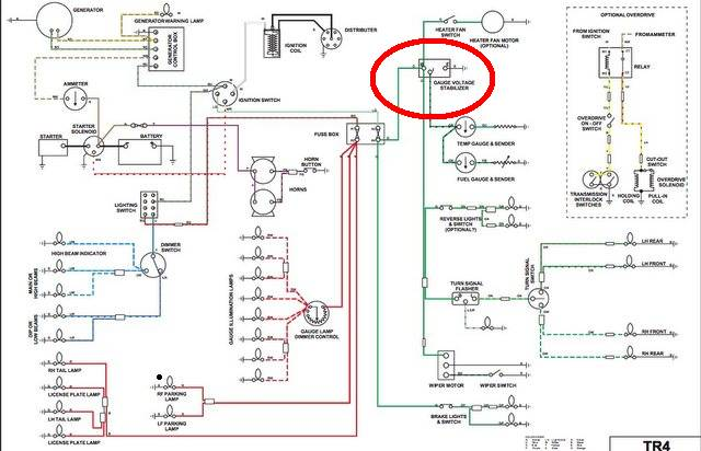 tr4 wiring harness safety harness wiring diagram
