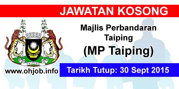 Jawatan Kerja Kosong Majlis Perbandaran Taiping (MDTaiping) logo www.ohjob.info september 2015